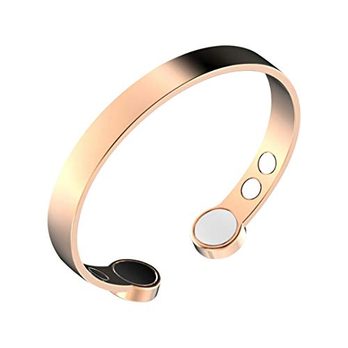 Rosian & Levine  Magnetic Pure Copper Arthritis Therapy Bracelet with Extra Strong Magnets for Carpal Tunnel Migraine Menopause - Unisex Copper Bracelet Immune Support