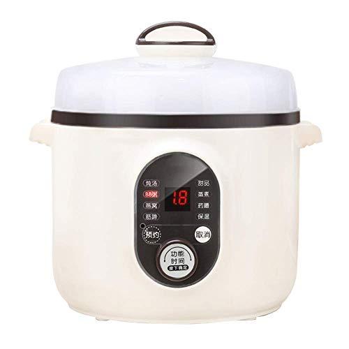 GAOZHEN Elektrischer Eintopf 1L Keramik-Langsamkocher, Multifunktions-Kochtopf mit Reservierungsfunktion und Warmhaltefunktion Geeignet Ideal für kleine Haushalte