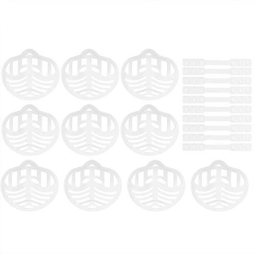 MILISTEN 10 Set Support de Couverture de Bouche 3D avec Crochet D'extension de Sangle Visage en Plastique Support Intérieur Cadre de Support Support de Support de Cordon D'oreille Sangle