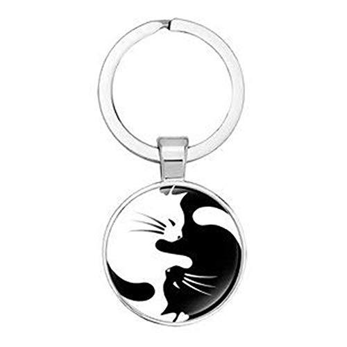Schlüsselanhänger Yin Yang Katze