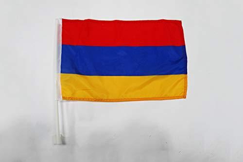 AZ FLAG AUTOFAHNE ARMENIEN 45x30cm - ARMENISCHE AUTOFLAGGE 30 x 45 cm Auto flaggen