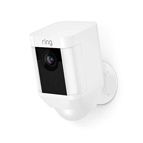 Ring Spotlight Cam Battery | Videocamera di sicurezza HD con faretto LED, allarme acustico, comunicazione bidirezionale, alimentata a batteria