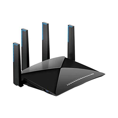 QPALZM Router WiFi Tri-Band Gigabit Gaming,MU-MIMO, CPU de Cuatro núcleos de 64 bits, 1 GB de RAM, 5400 Mbps,2.5G Gaming Port,Hasta7Gbp, hasta 100 m2 de Cobertura y 20 Dispositivos