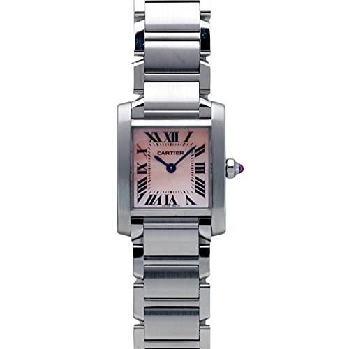 カルティエ Cartier タンク フランセーズ SM W51028Q3 ピンク文字盤 中古 腕時計 レディース (W207718) [並行輸入品]