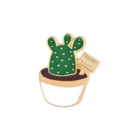Encantadora insignia planta Collar en maceta Labios de zapatos Broche de esmalteÁrbol de coco Hojas de cactus Ropa decorativa Alfileres de dibujos animados Insignia-Bola de hadas