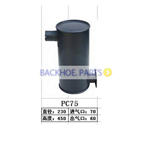 For Komatsu Excavator PC75UU-3 PC75US-3 PC75UD-3 Engine 4D102E Side Exhaust Type Muffler Silencer 6731-11-5530