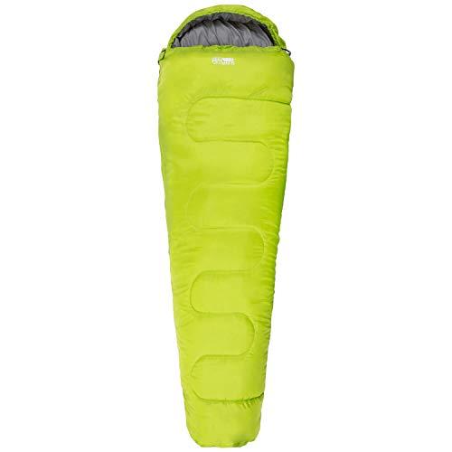 Highlander 2-Jahreszeiten-Schlafsack Sleepline 250 Mummy Schlafsack - Ideal für Camping, Wohnmobilausflüge, Festivals oder Übernachtungen - In vielen tollen Farben erhältlich (Limone)