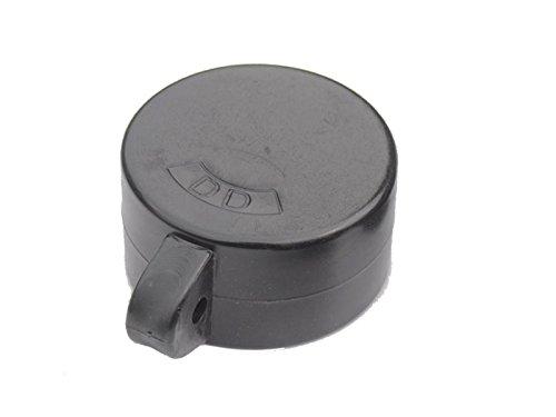 Zaun-Nagel Ösenkappen Hart-PVC schwarz für Rohrpfosten Ø 42mm - Paket á 10 Stk.
