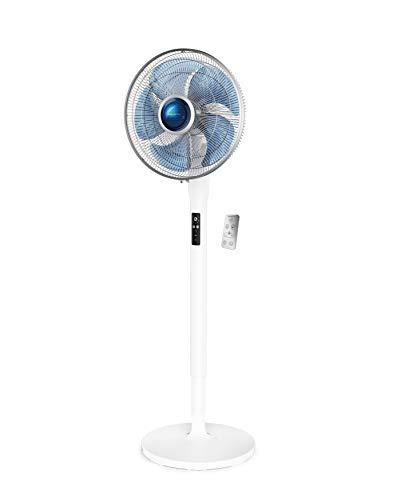 Rowenta Turbo Silence Extrême+ Ventilateur Puissant Silencieux sur Pied Electronique avec télécommande 5VitessesOscillation Automatique Hauteur réglable VU5770F0, Blanc, 60 x 50 x 140 cm