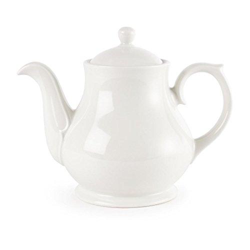 Churchill Super vitrificada P321te y cafe de porcelana Pot, color blanco (Pack de 4)