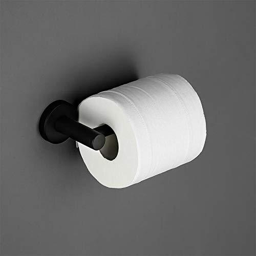 No-Branded Bathroom Accessory Stainless Steel Bath Hardware Sets Black Robe Hook Towel Holder Bar Shelf Paper Holder Bathroom Accessories Kit YUXUJ (Color : Black, Size : 1Pc Paper Holder)