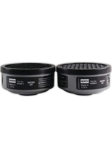 North by Honeywell N75004L Ammonia and Methylamine Respirator Cartridges Plastic, Universal, green (Pack of 2),Black