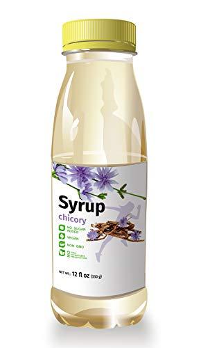 ISOP Chicorée-Wurzel-Kaffeesirup - Rein ohne Zucker Süßstoff - Zuckerersatz für Kaffee Cappuccino Latte Americano - Hergestellt in Belgien