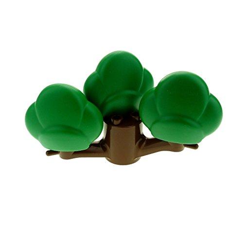 1 x Lego Duplo Baum Busch braun grün Strauch Pflanze 1 Stumpf 3 Kronen 2289 74587