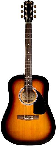 Fender FA-115 Dreadnought Acoustic Guitar - Sunburst Bundle with Gig Bag, Tuner, Strings, Strap, and Picks