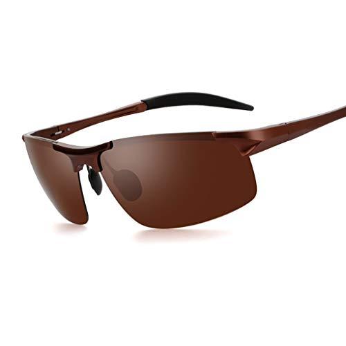 LQ Herrenbrille Versace Polarisierte Fahrer-Nachtsichtbrille, Aluminium-Magnesium-Herrensonnenbrille, hochauflösende polarisierte Sonnenbrille (Farbe : C)
