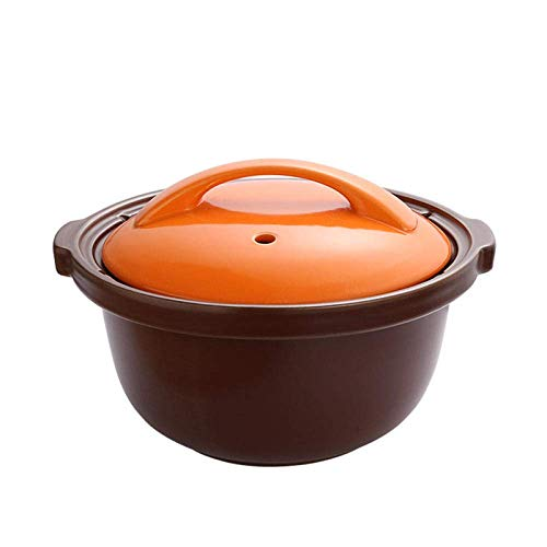 GTYT Clay Casserole Pot Terracotta Stew Pot Clay Cooking Pot Casserole Dishes - Open Flame, High Temperature Resistant, Large Capacity Ceramic Casserole-capacity 3L_Orange