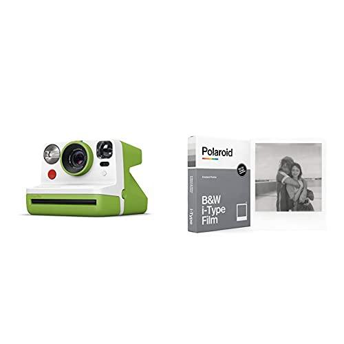 Oferta de Polaroid - 9029 - Polaroid Now Cámara instantánea i-Type Verde + Película Instantánea N y B para i-Type