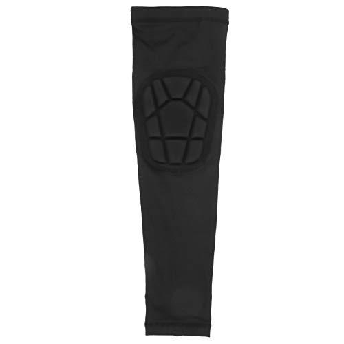 01 Protector de Mangas de Brazo, Mangas de compresión de Brazo Negro Cómodo anticolisión Transpirable para Baloncesto para Fitness para Ciclismo al Aire Libre para Escalada(XL)