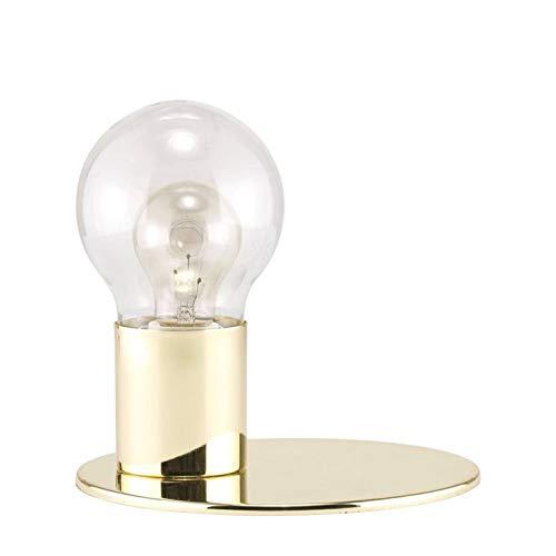 GLOW-Lampe à poser H19,5cm socle et base laiton doré diffuseur verre transparent Bolia - designé par Charlotte Høncke