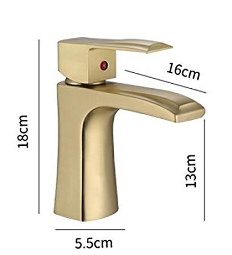 Waterkraan retro luxe wastafel waterkraan geborsteld goud eenvoudige hete/koude waterkraan badkamerkast wasbak koper kraan waterkraan