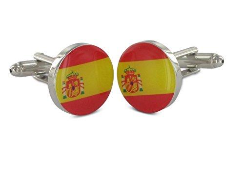 TEROON boutons de manchette drapeau de l'Espagne
