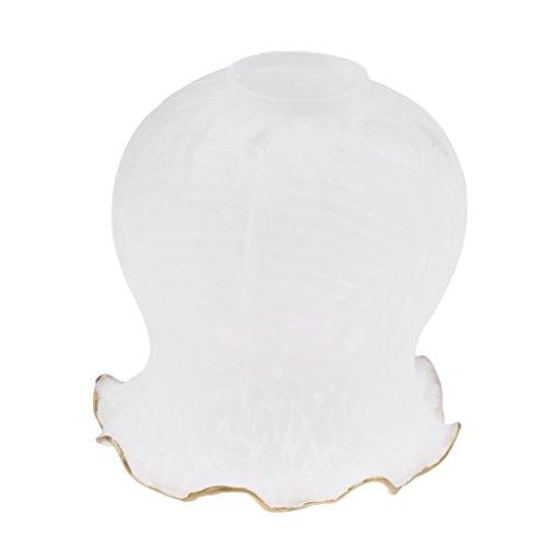 MagiDeal E27 Traditionell Glas Lampenschirm Lampenglas für Kronleuchter Deckenleuchte Wandleuchte, 8 Typ verfügbar - Typ 1