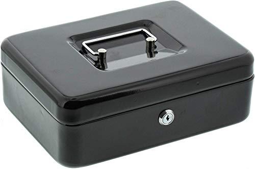 BURG-WÄCHTER Geldkassette Money 5025, Stahlblech, Schwarz, Inkl. 2 Schlüssel und Hartgeldeinsatz
