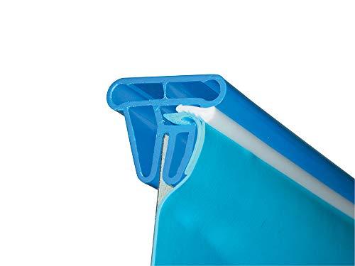 Summer Fun Pool Folie oval 3,20m x 6,00m x 1,50m Folienstärke 0,6mm blau mit Keilbiese Poolfolie Innenhülle 320 x 600 x 150 cm Stahlwandpool Ovalpool