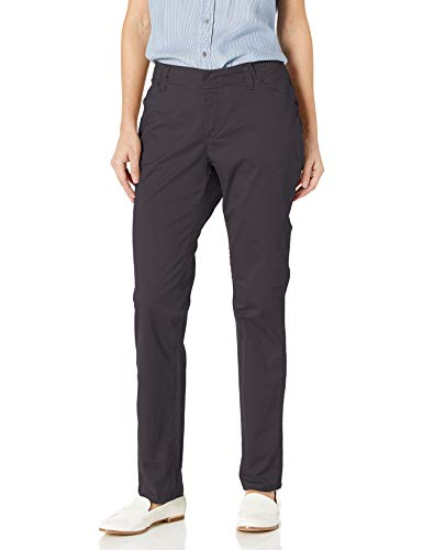 Lee Women's Midrise Fit Essential Chino Pant (Mineral Blue, 2 Short)