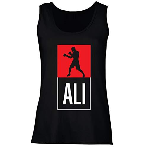 lepni.me Camisetas sin Mangas para Mujer Equipo de Entrenamiento Combate De Boxeo Ropa de Ejercicio y Fitness (XX-Large Negro Multicolor)