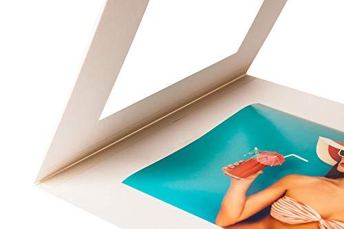 Klapp Passpartout - Außen: 40x50cm - für Foto: DIN A3 - Museumsqualität - für die Archivierung, Aufbewahrung, Präsentation und Überreichungen