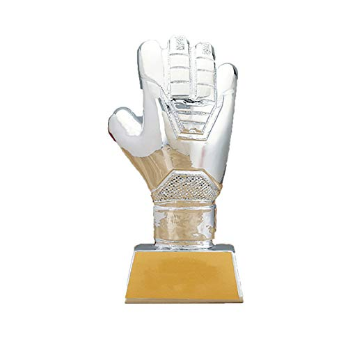 DYYPPWW Trofeo De Portero Guante De Oro Premios Deportivos FúTbol Copa Trofeo De CompeticióN,Resina,Fan Souvenirs,Plata