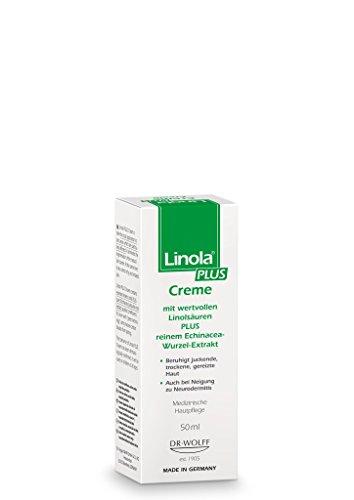 Linola PLUS Creme, 1 x 50 ml - Intensivpflege für juckende, trockene, sowie zu Neurodermitis neigende Haut