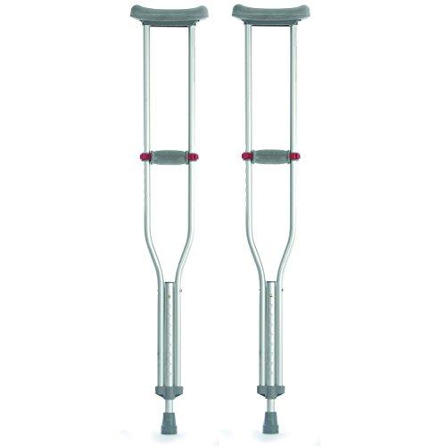 Underarm verstellbarer Höhe & Griff Adult Red Dot Achsel Krücken - Klein