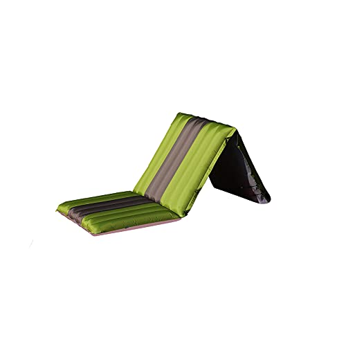 Outdoor Camping Folding Sleeping pad The Best Sleeping pad with Compressed Inflatable Stitching mattresses and Climbing Cushions Suitable for Backpacks, car Camping, Hiking and Tents. (Green)