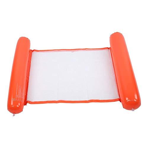 Redxiao 【𝐁𝐥𝐚𝐜𝐤 𝐅𝐫𝐢𝐝𝐚𝒚】 Anillo de natación de Hamaca más Grande de 130x70 cm, Cama Flotante de Piscina Inflable Engrosada, Cama Flotante de Foto de Silla de Playa Inflable,(Orange)