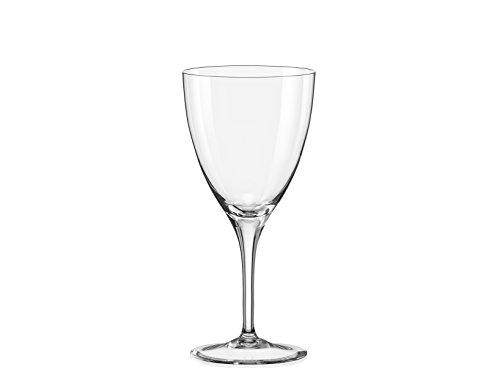 Bohemia Crystal Kate Lot 6 Verres à vin 25 cl, Verre, Transparent, 26 x 17 x 20 cm