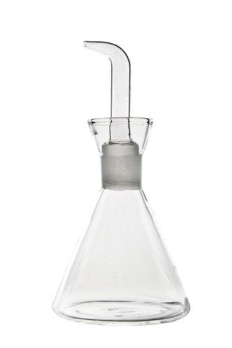 imf Aceitera-Vinagrera Conica Antigoteo, Glass, Multicolor, 125 ml