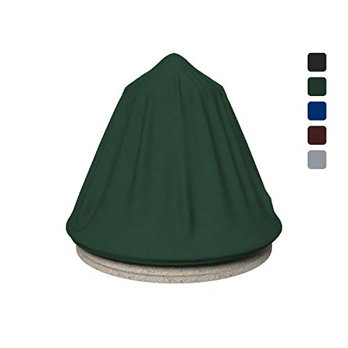 Fountain Cover 18 Oz Waterproof - Customize Cover with Any Size - 100% UV & Weather Resistant Water Fountain Cover with Air Pocket and Elastic with Snug Fit (48' Dia x 68' H, Green)
