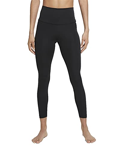 NIKE The Yoga 7/8 Pantalones de compresin, Negro/Dk Smoke Grey, M para Mujer