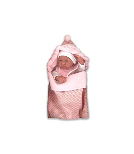 Bambola Antonio juan-5016RN Bambina con Sacco di Lana Bambola Antonio Juan 5016