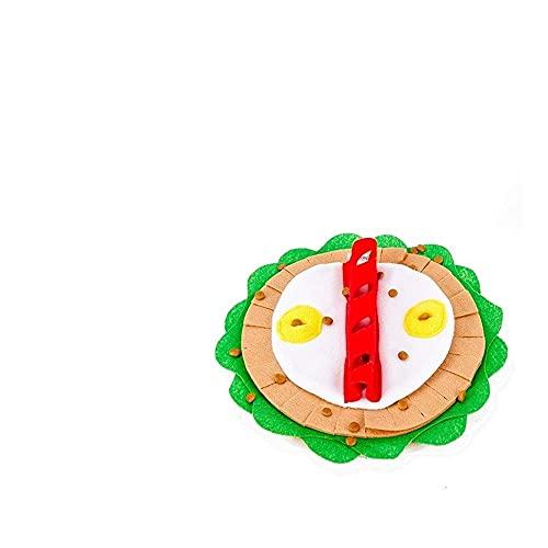 Unique pet bed Hund Schnuppmatte Haustier Hund Schnüffeln Fütterung Matte Haustier Sniffing Training Decke Hund Snack Feeder Interaktives Futterspiel Für Langeweile Pet Nase Pad 12 (Farbe: Natürlich)