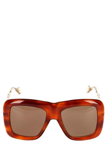 Luxury Fashion | Gucci Dames 558694J07402221 Bruin Acetaat Zonnebrillen | Seizoen Outlet