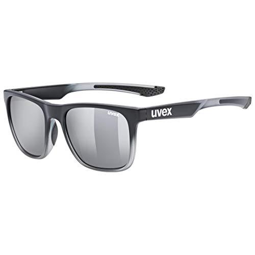uvex Unisex– Erwachsene, lgl 42 Sonnenbrille, black transparent/silver, one size