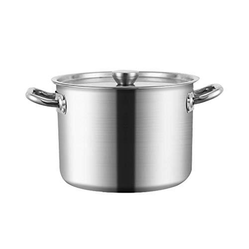 MUMUMI Potes, Acero Inoxidable Stockpots, Pots Casserole Soup Sow Stef Pot Tapas, Cubierto Stockpot,40 * 39Cm