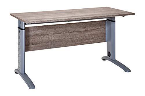 Möbelpartner 1210 Schreibtisch, trüffeleiche Dekor, 140 cm breit