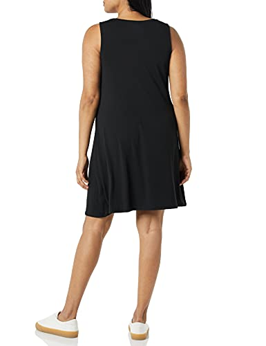 Amazon Essentials - Vestido sin mangas para mujer, Negro, US S (EU S - M)