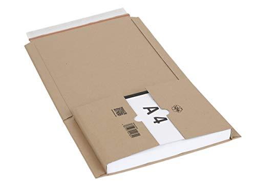 40 Buchverpackungen DIN A4 | Buch Wickelverpackungen mit Selbstklebeverschluss | wählbar zwischen 40-1440 Versandtaschen