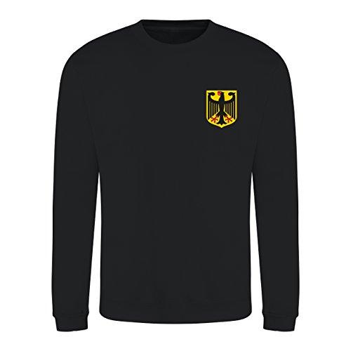 Retro Deutschland Deutschland Fan Sweatshirt Langarm Gr. X-Large, jet black